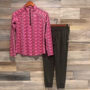 Justice 3/4 zip athletic top with joggers 12